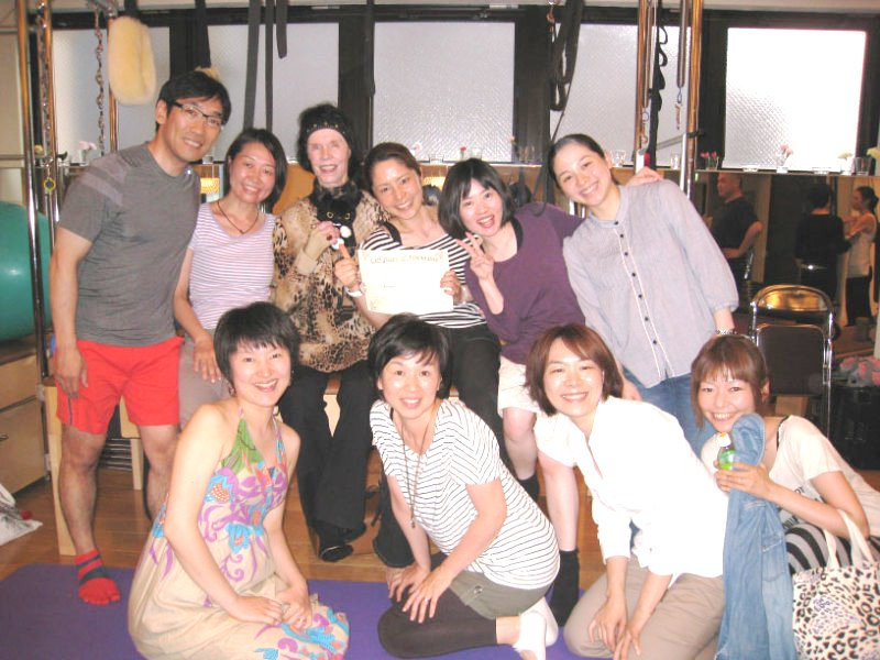 pilates class in japan