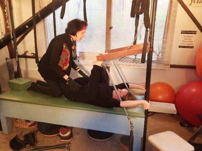mary with katya in studio