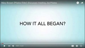Mary Bowen meeting Joe Pilates